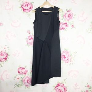 All Saints Oil Black Fern Midi Dress 4
